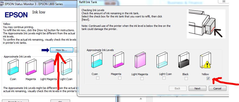 نحوه استفاده از کد جوهر در پرینترهای جوهر افشان اپسون