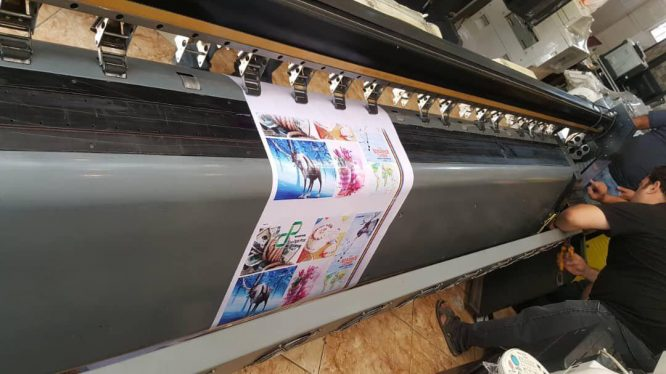 دستگاه چاپ بنر مطسا با 8 هد xaar